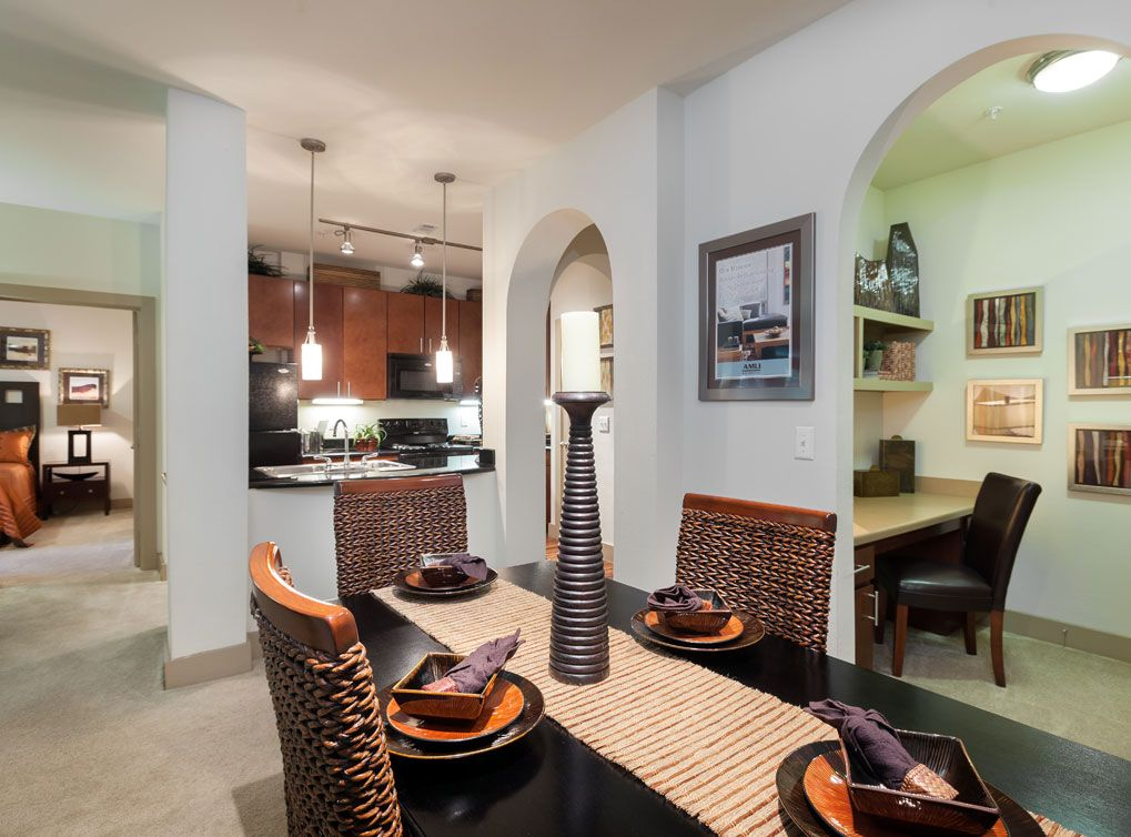 Model apartment at AMLI Eastside, a luxury apartment