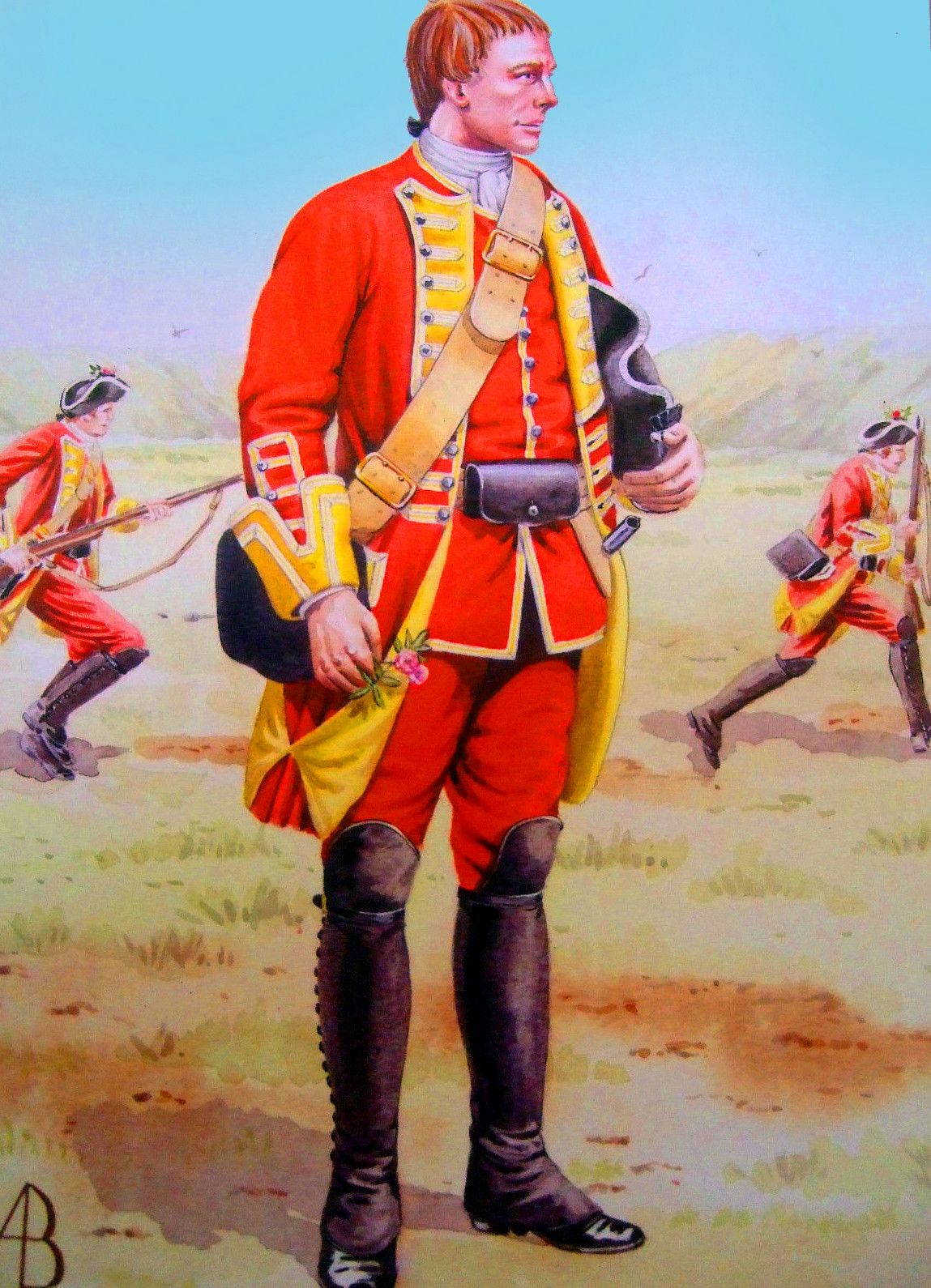 58th Regiment of Foot at the Battle of Minden