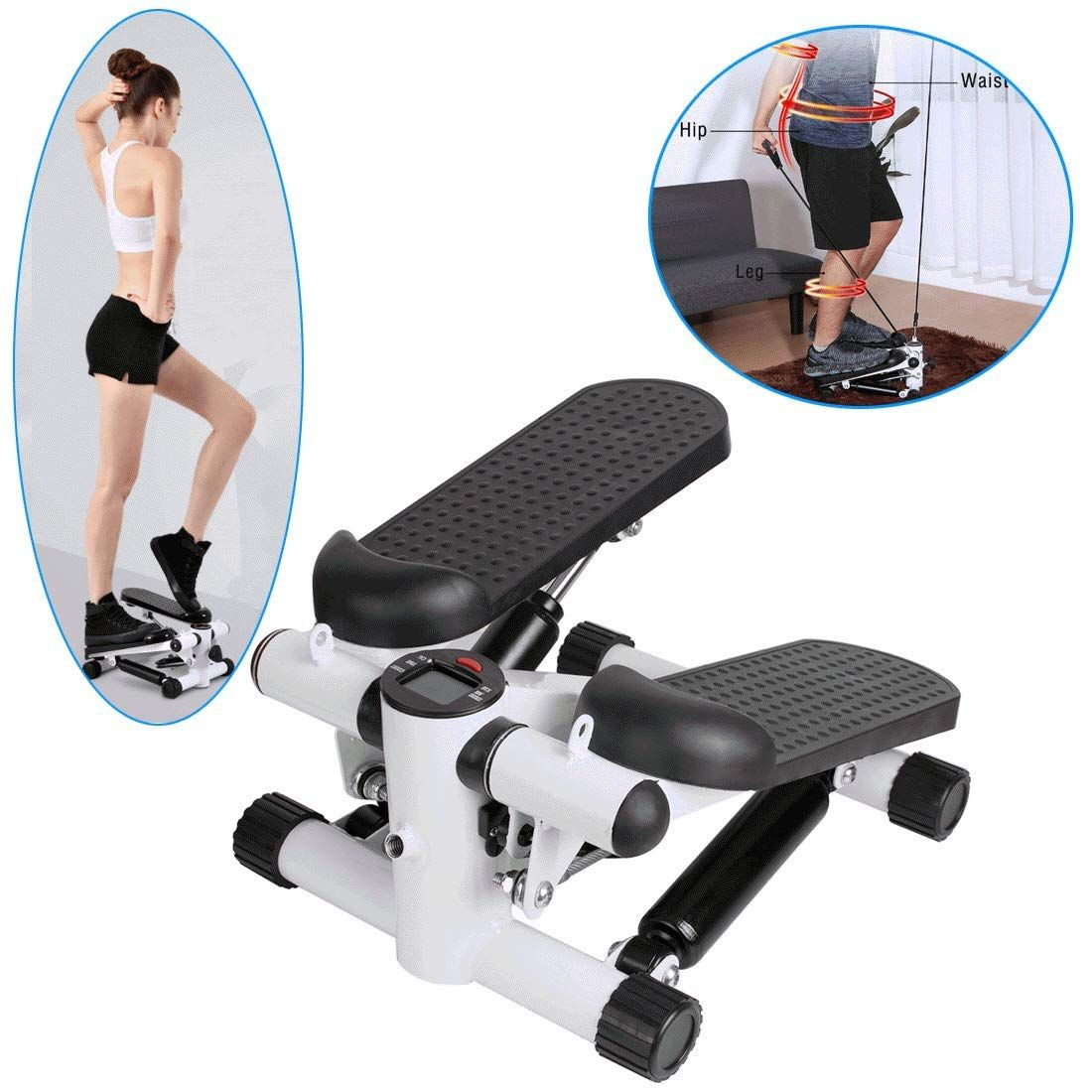 Mini Exercise Stepper Pedal Fitness Cardio Workout Trainer Home Gym Step Machin