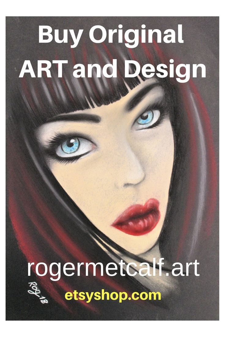 Goth Girl Pastel sketch on coloured art paper, available to buy as original or art print and throw cushion, rogermetcalf.art  etsyshop Roger Metcalf Art