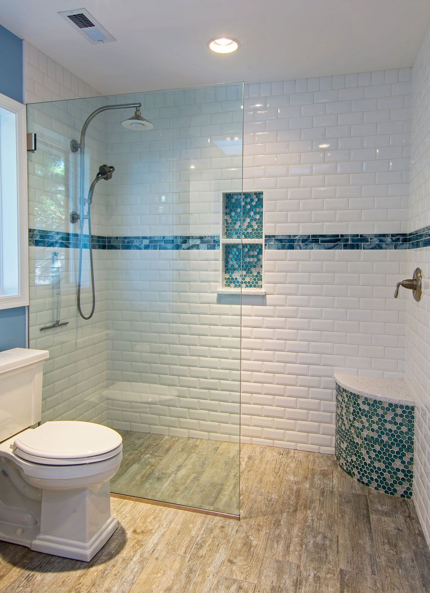 Beautiful Master Bathroom www.inhomestone.com/tile | Subway Tile ...