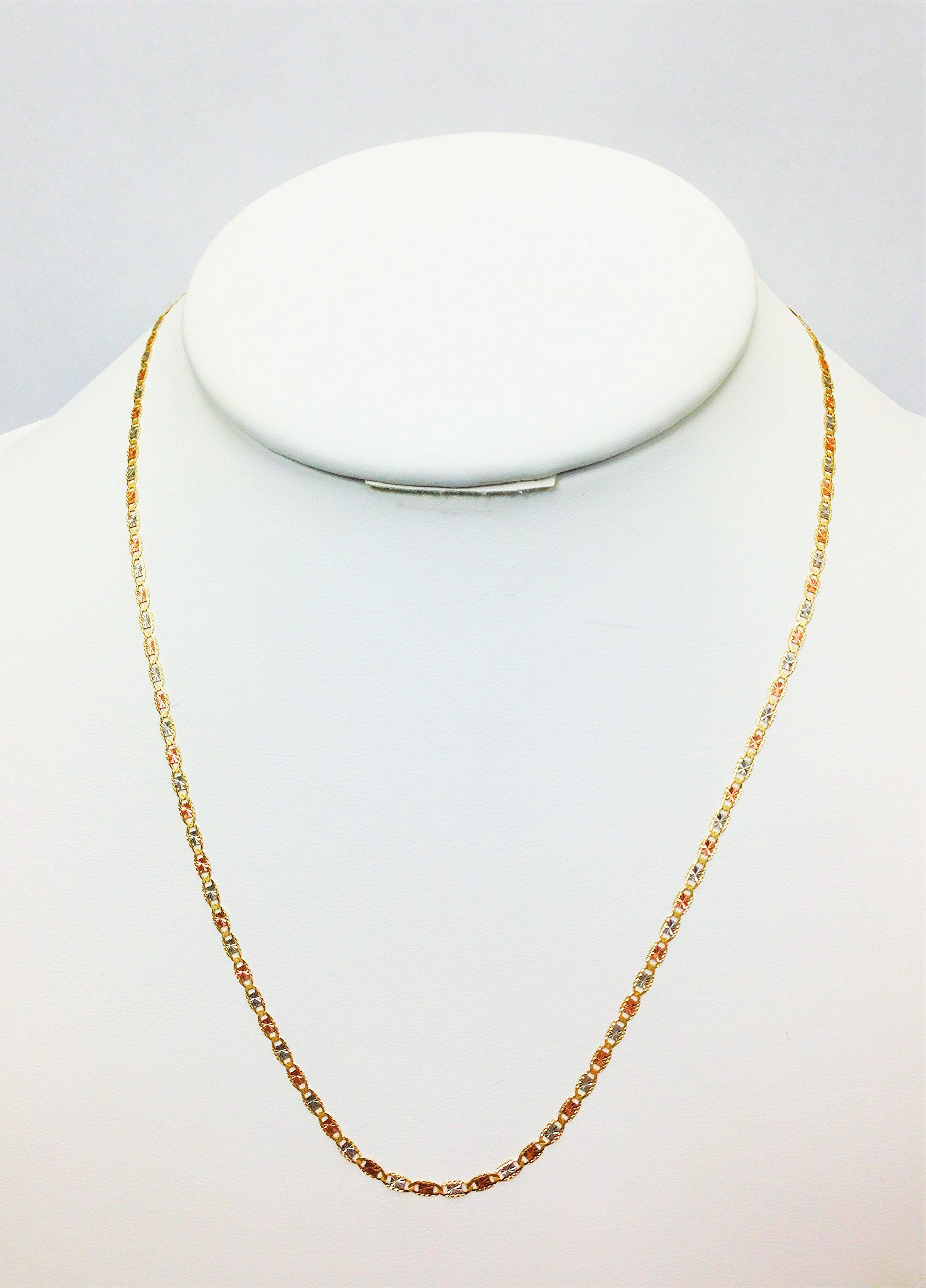 Mcs Jewelry 10 Karat Three Tone Yellow Gold White Gold Rose Gold Necklace 16 Affiliate Mcs Necklace Chain Lengths Chains Necklace Rose Gold Necklace