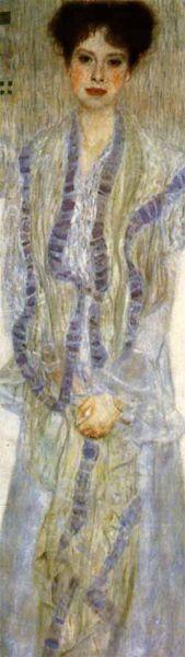 Gustav Klimt (1862-1918). Portrait of Gertha Felsövanyi. 1902. Oil on canvas. Private collection - Austria