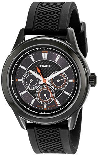 Timex Men's T2P179KW Ameritus Multi-Function Black Silicone Strap Watch