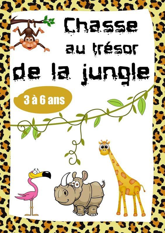 Chasse au tr sor sur le th me des animaux de la jungle id es anniversaire pinterest la - Idee chasse au tresor adulte ...