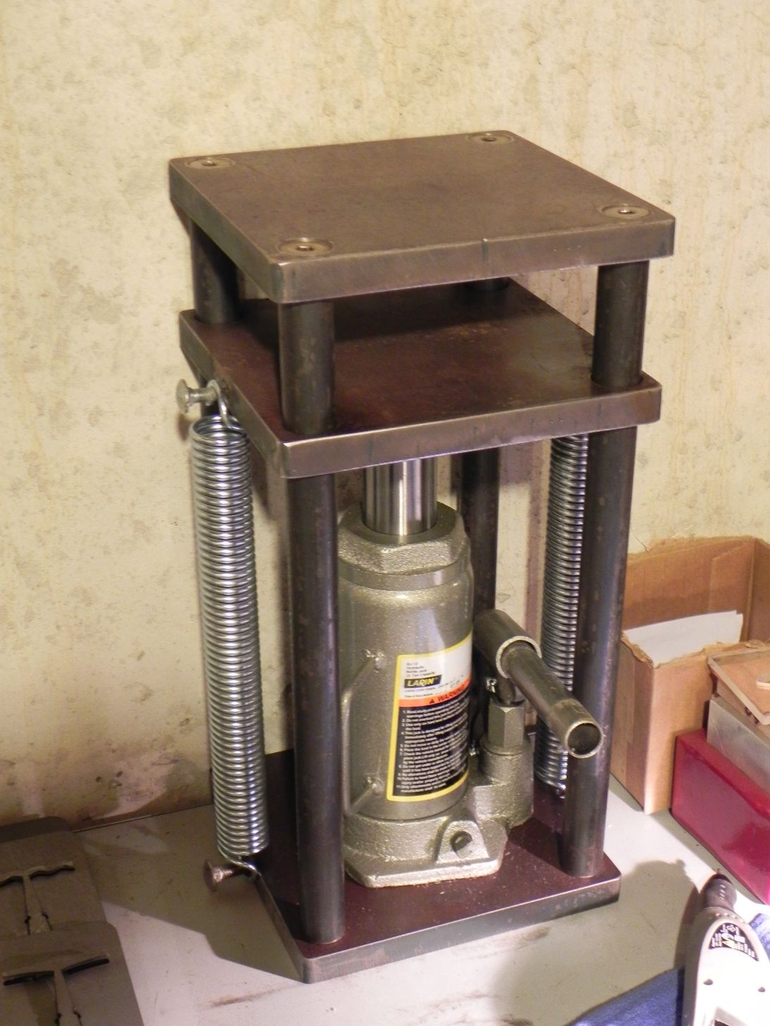 Homemade Hydraulic Press Welding projects, Welding