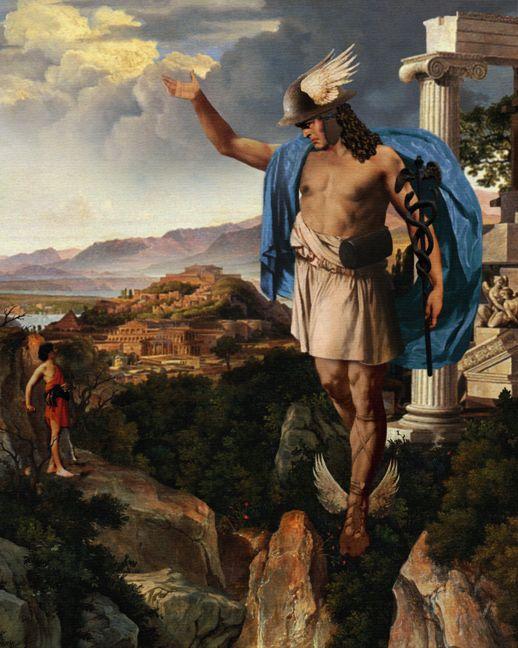 Hermesmercurio Dioses Griego Y Romano Es El Dios De Los Viajeros