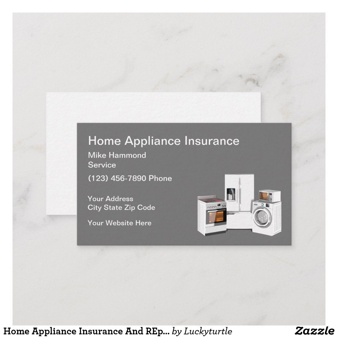 Home Appliance Insurance And REpair Business Card Zazzle
