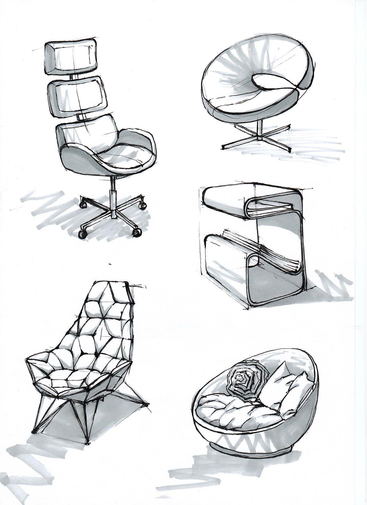 Chair Design Architects Chairs Living Room Ikea Interior Portfolio Sketch Pinterest Sketches