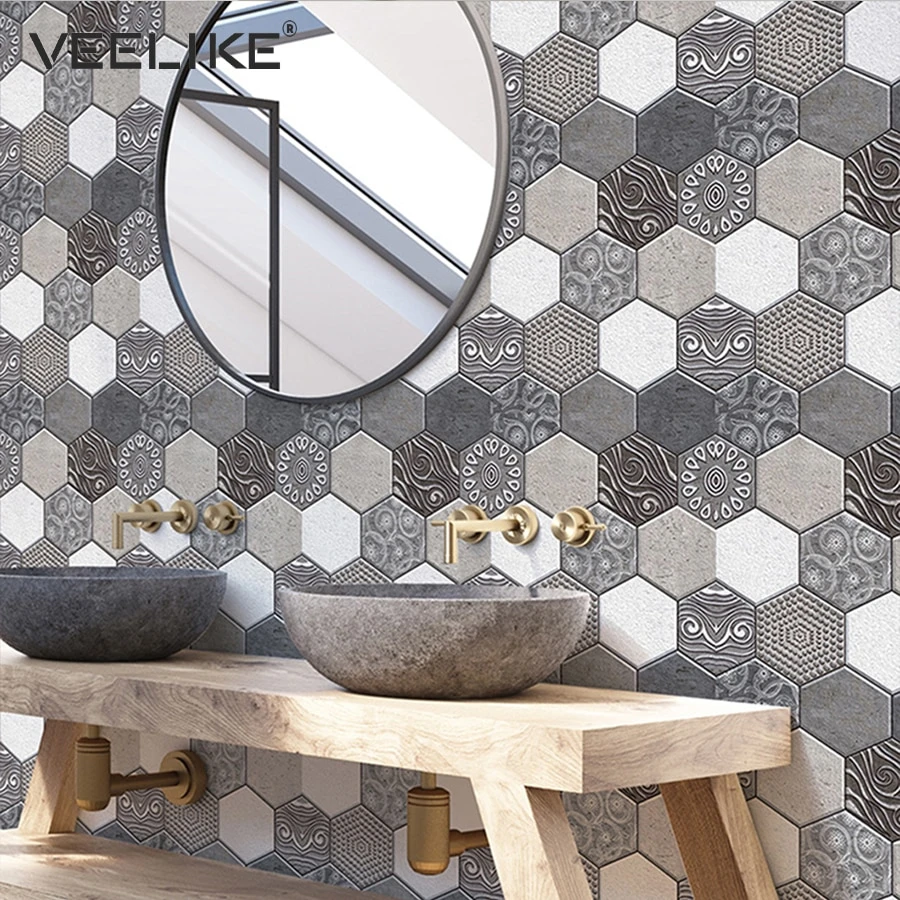 Self Adhesive Waterproof 3d Pvc Wall Panels For Kitchen Backsplash Til Neshai Fashion More Pvc Wall Panels Brick Wallpaper Bedroom Pvc Wall