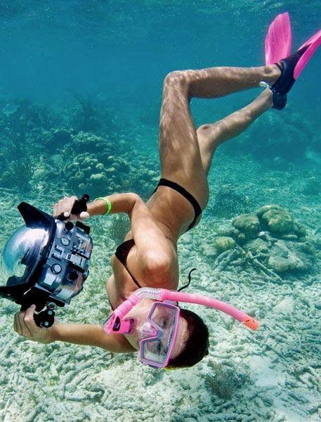 Sexy Woman In Bikini Silhouette Swimming Underwater By Jp Danko