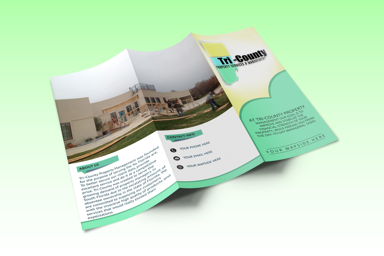 Design Flyer Or Bifold Or Trifold Brochure Design Pinterest - Property management brochure templates