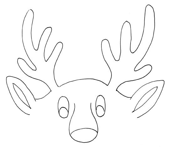 Reindeer Antler Pattern Patterns Click Here For Pattern Reindeer Craft Coloring Pages Printable Coloring Pages