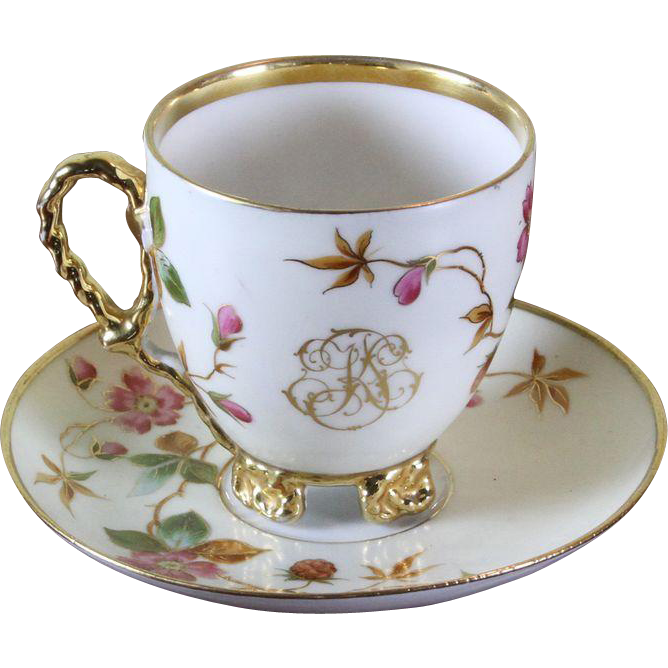 Collector's Tea Cup Saucer Gold Rim Floral Decoration With Unique Decorative Cups And Saucers