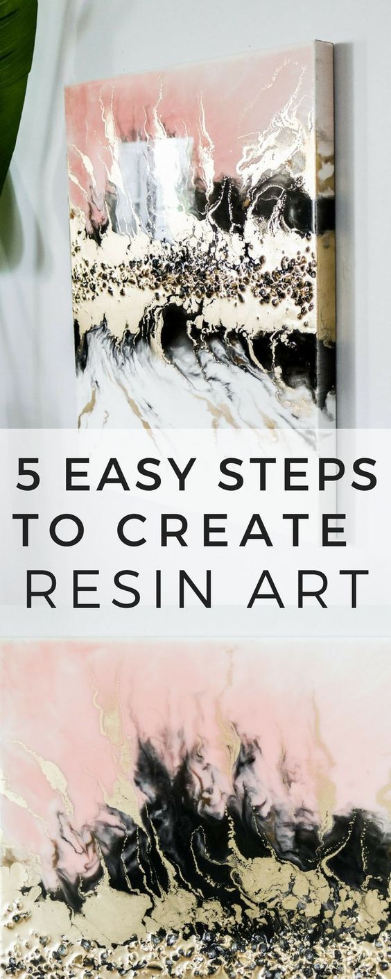 Photo of What you need to know before resin pouring! DIY resin art with gold and crystals