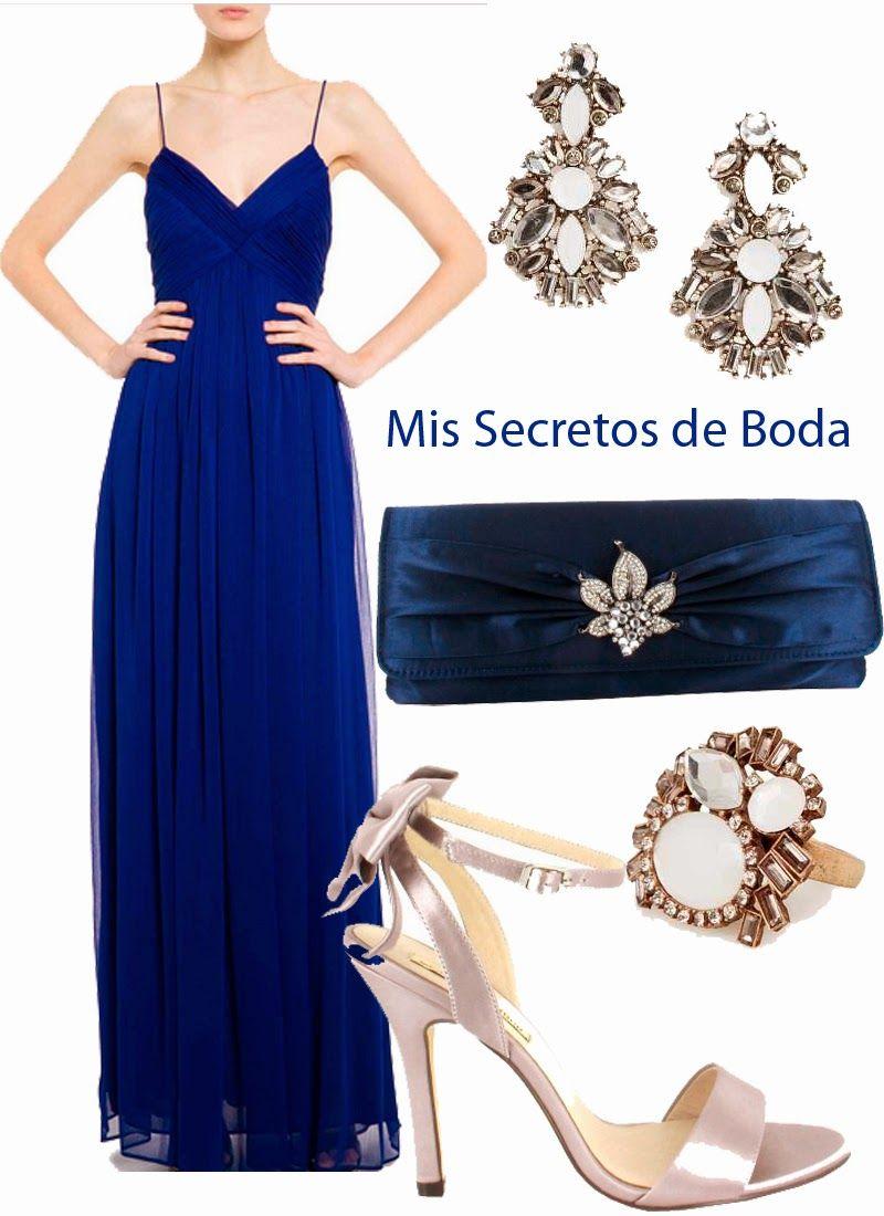 Vestidos dama de honor azul klein