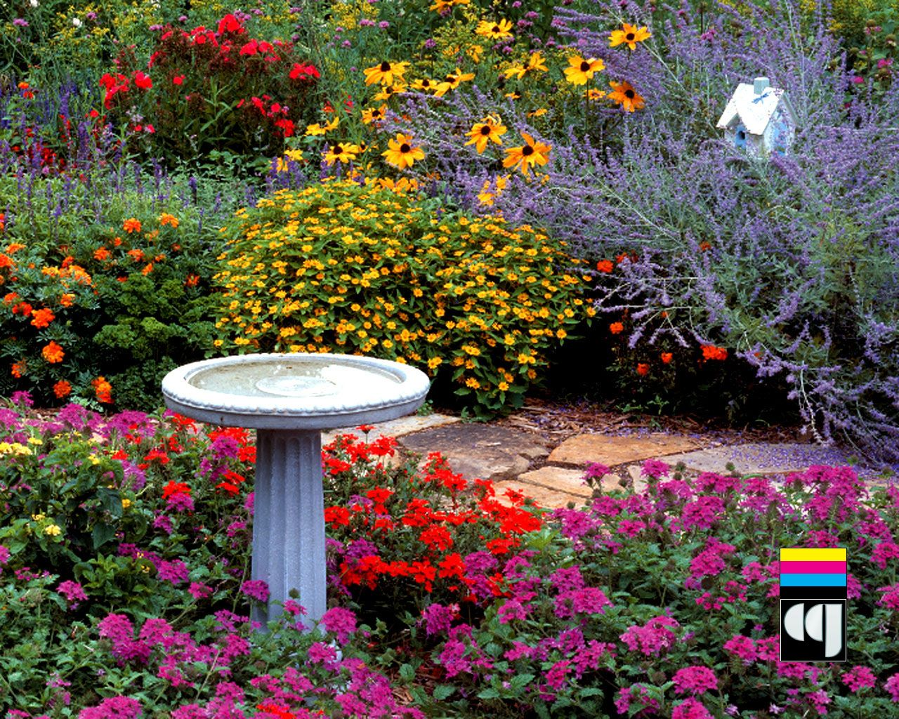 Garden Pictures My Wallpaper Street Garden Background X - Colorful flower garden background