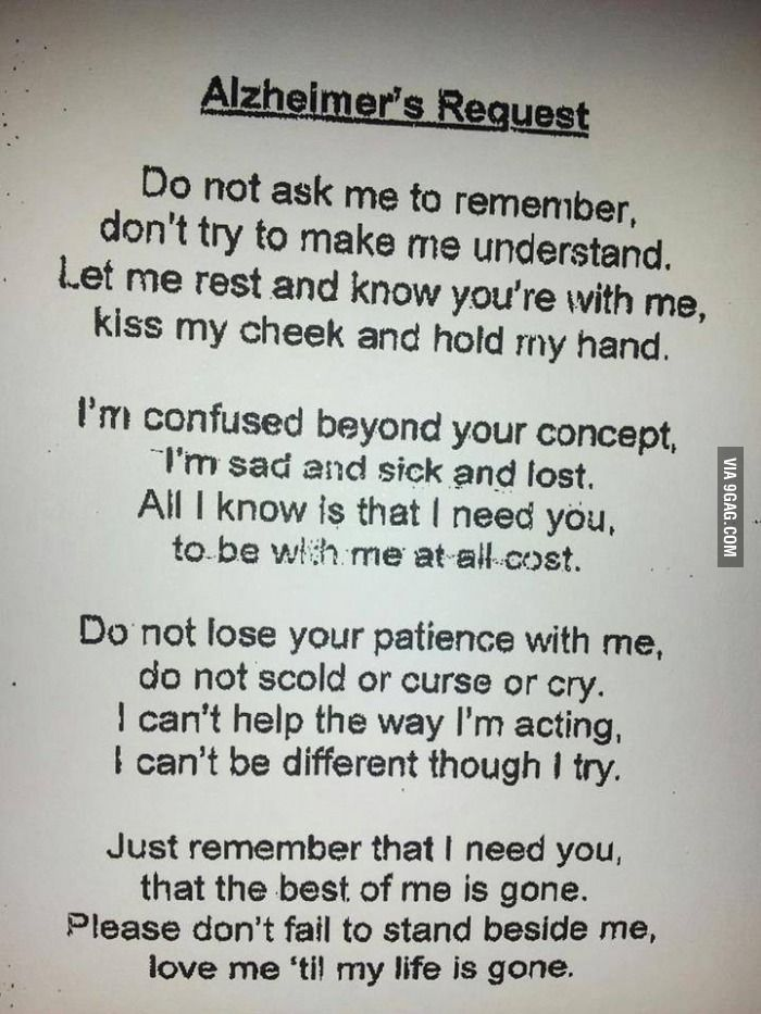 This Message Was In Front Of A Alzheimer S Patient S Room At My