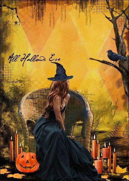 All Hallows Eve Artist Crytzal Rain Samhain Halloween Halloween Illustration Halloween Haunt