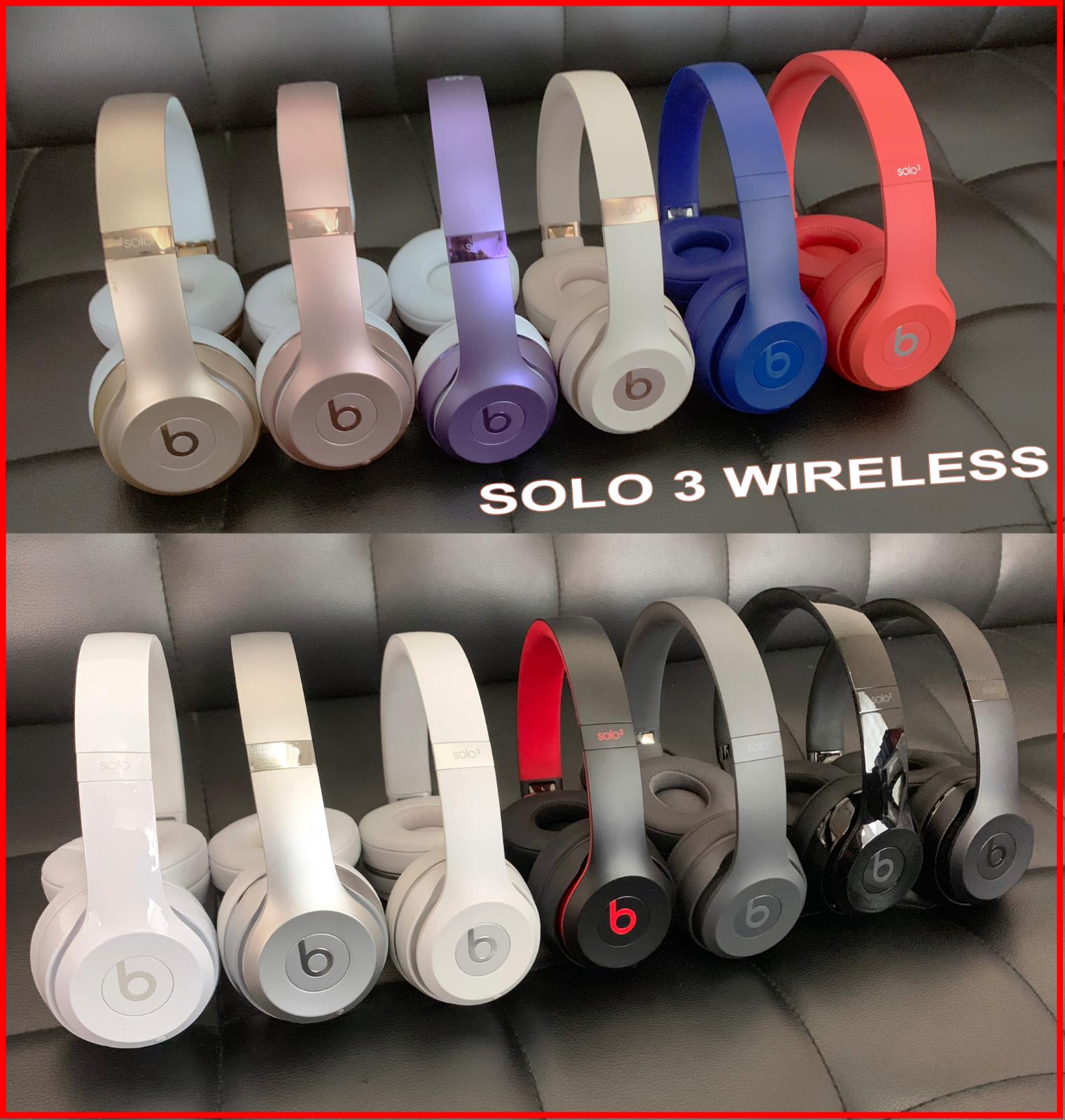 Beats By Dre Solo 3 Studio 2 Wireless On Ear Headphones Rose Gold Wireless Headphones Black Headphones Beats Headphones Wireless