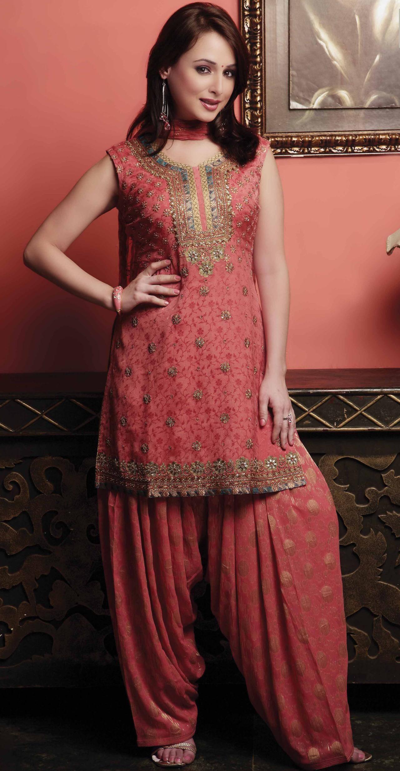 Love The Color Coral Pink Punjabi Suit
