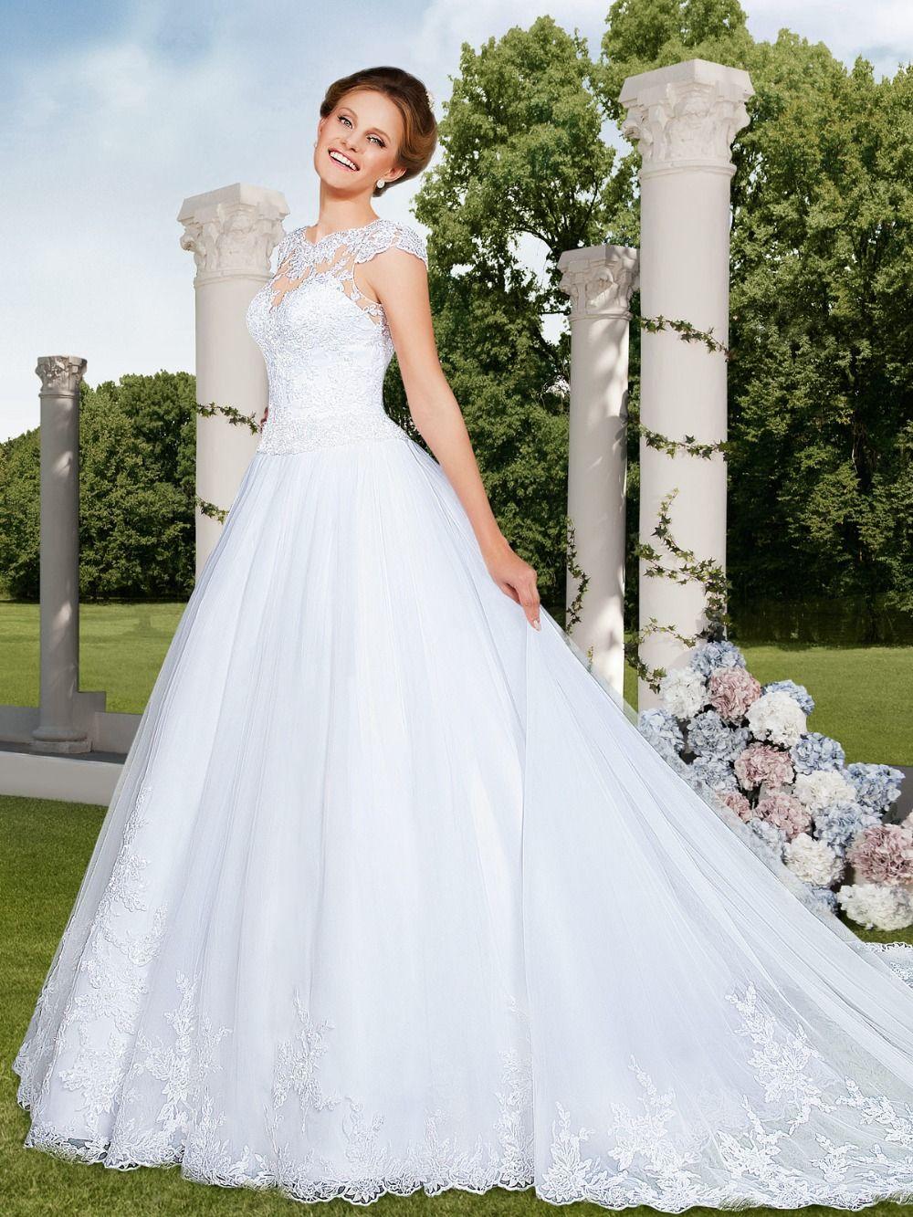 Wedding decorations muslim october 2018 bridalup SUPPLIES Fashionable White Scoop Neckline Cap Sleeve