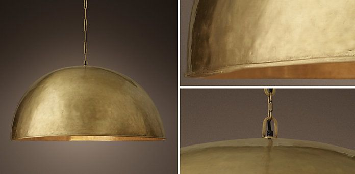 Grand Brass Dome Pendant | RH · Dadu0027s KitchenCeiling LightingModern ...