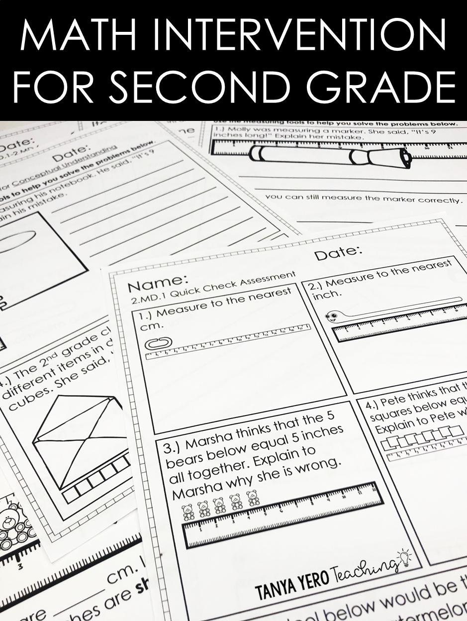 2nd Grade Math Intervention Math RTI Resources COMPLETE