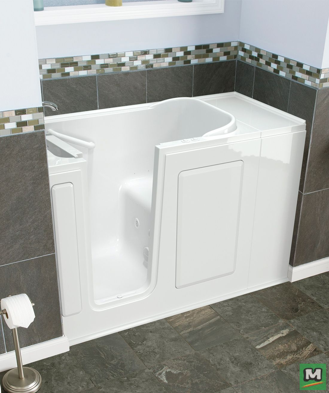 Relax in Safety Tubs® Dual Massage Walk-In Bathtub. Providing a ...