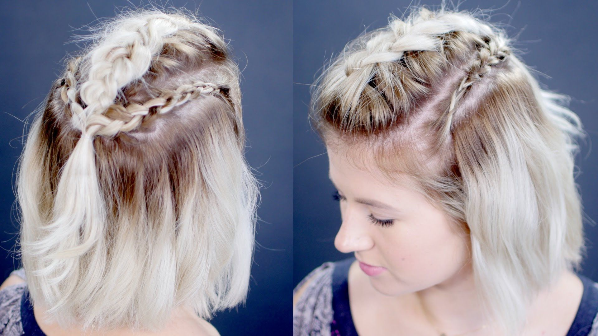 how to dutch viking braids short hairstyle | milabu