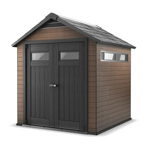 keter fusion 757 outdoor storage shed at menards