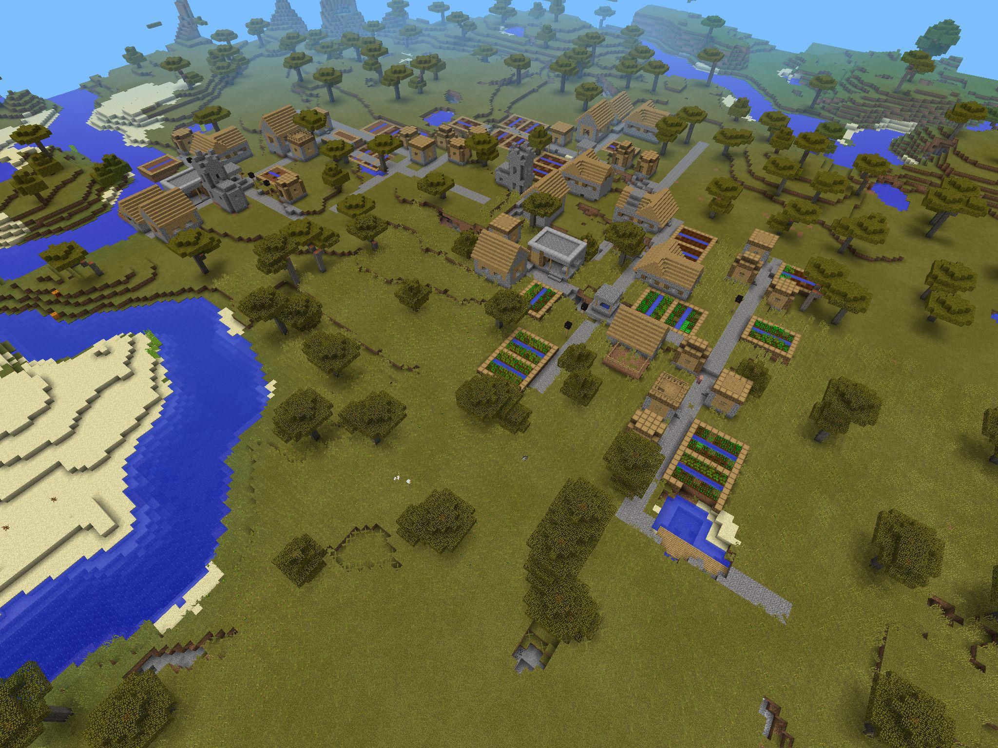 Minecraft PE- MASSIVE VILLAGE SEED!!! Seed-9 I used it