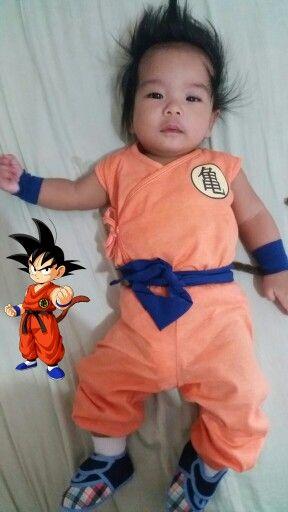 My Kai wearing a homemade Goku costume for halloween Goku Costume bbfd15045f