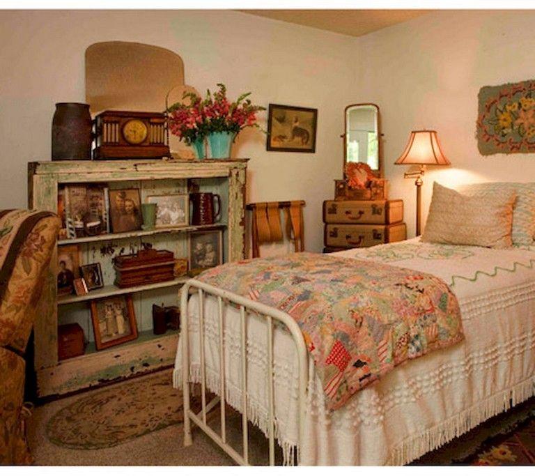 40 Amazing Vintage Bedroom Ideas Decorating Vintage Bedroom Decor Diy Home Decor Bedroom Small Room Bedroom