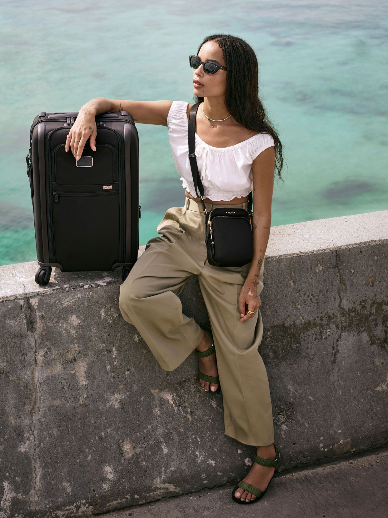 They Want to Fly Away! Lenny and Zoë Kravitz Travel to the Bahamas in Gorgeous New Tumi Ad Campaign