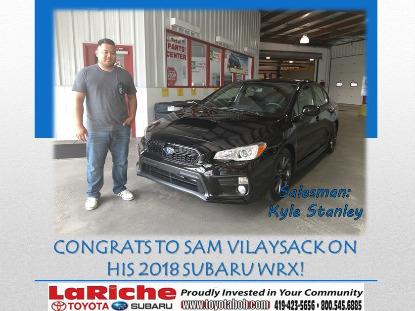 We just sold our first 2018 Subaru WRX to Sam of our own