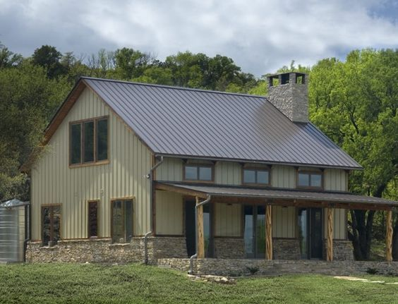 Barndominium Hmmmm Definately A Thought This Is Cute Metal House Plans Barn House Plans Metal Building Homes