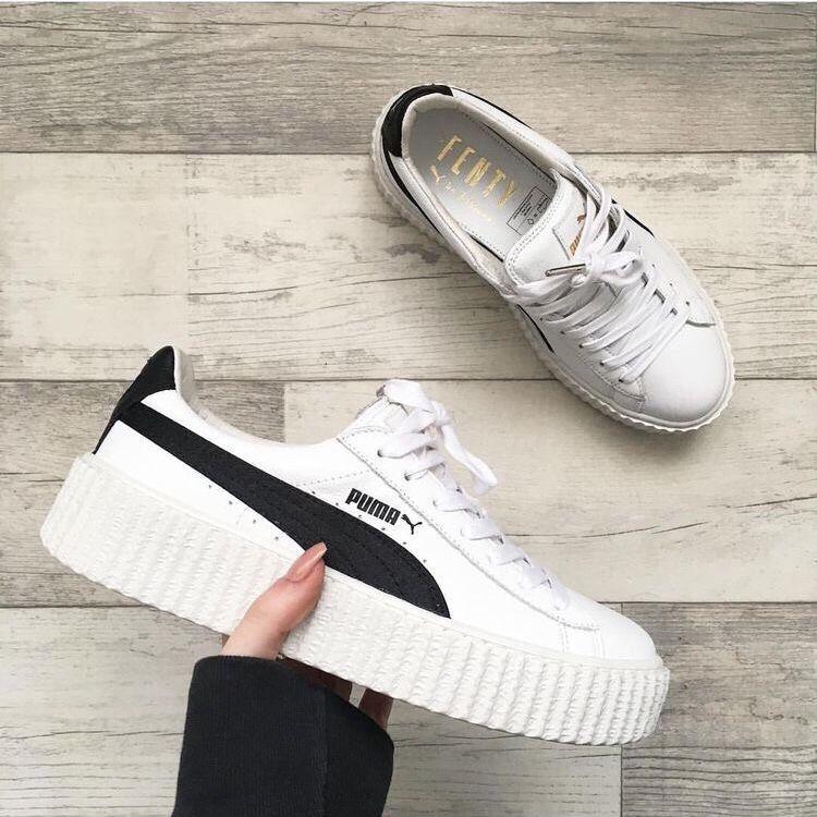 Womens shoes: Puma white trainers | zapatillas Nike, Adidas