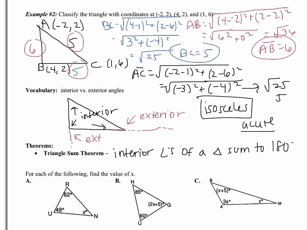 Exterior Angle Theorem Worksheet Elegant Sum Angles In A Triangle Worksheet In 2020 Kids Worksheets Printables Theorems Worksheets