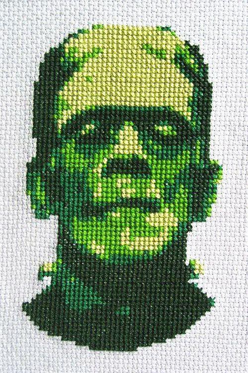 Frankenstein Cross-stitch Pattern  Instant Download Pdf | Etsy