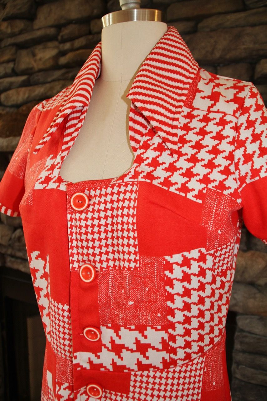 Red & White checkered dress.