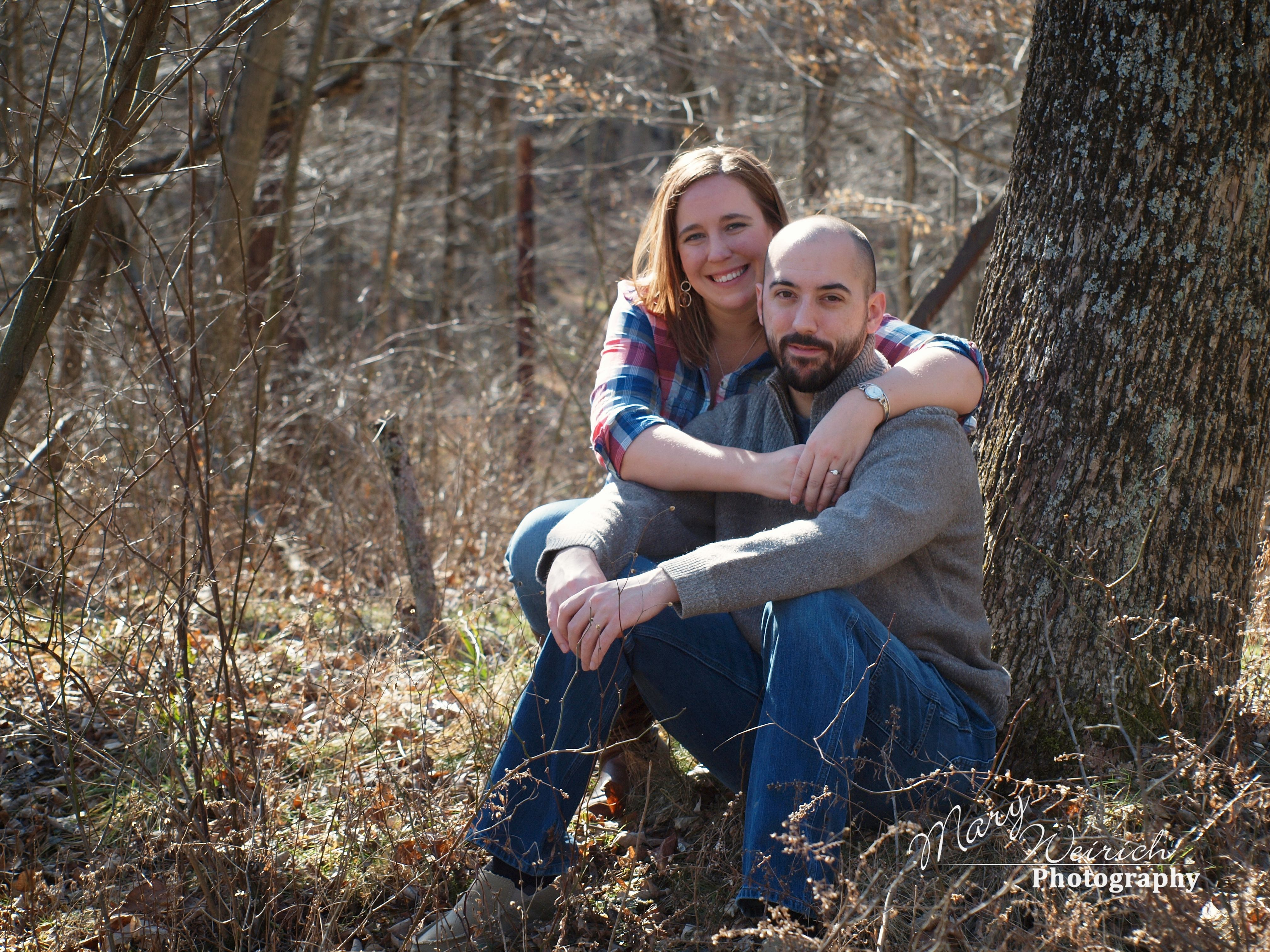 Outdoor Engagement Session Couples Pose Idea Malabar Farm