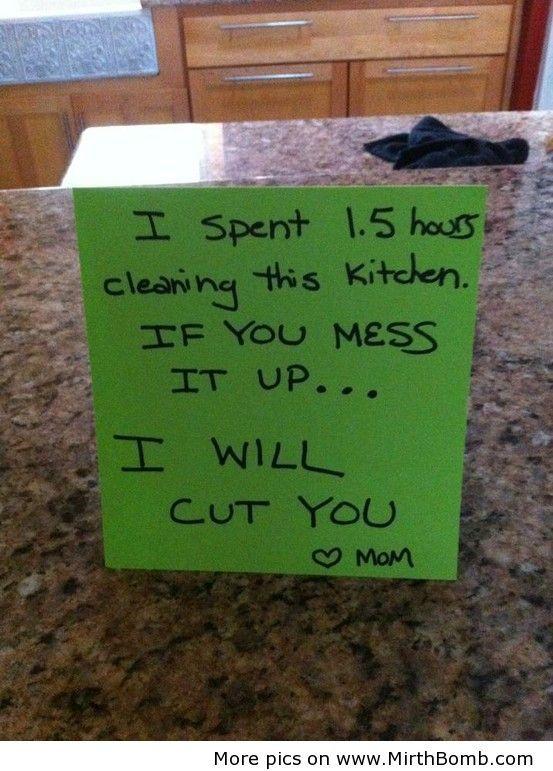 I will cut you. #scarymommy