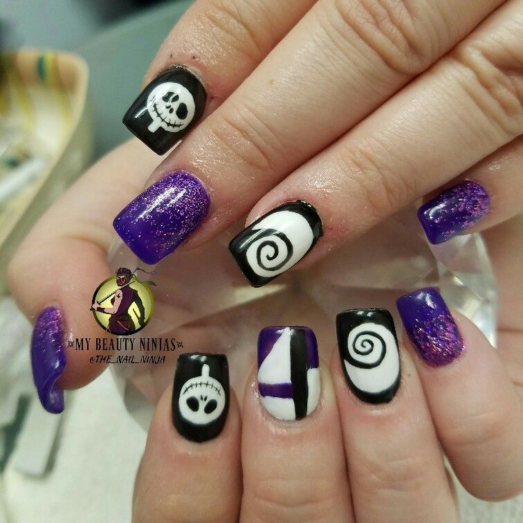 Jack Skellington nails! (And they glow in the dark!) See video of ...