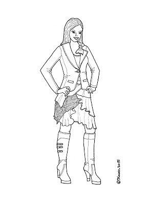 Karen`s Paper Dolls: Annabella Dressed to Print and Colour. Annabella klædt på til at printe og farvelægge.