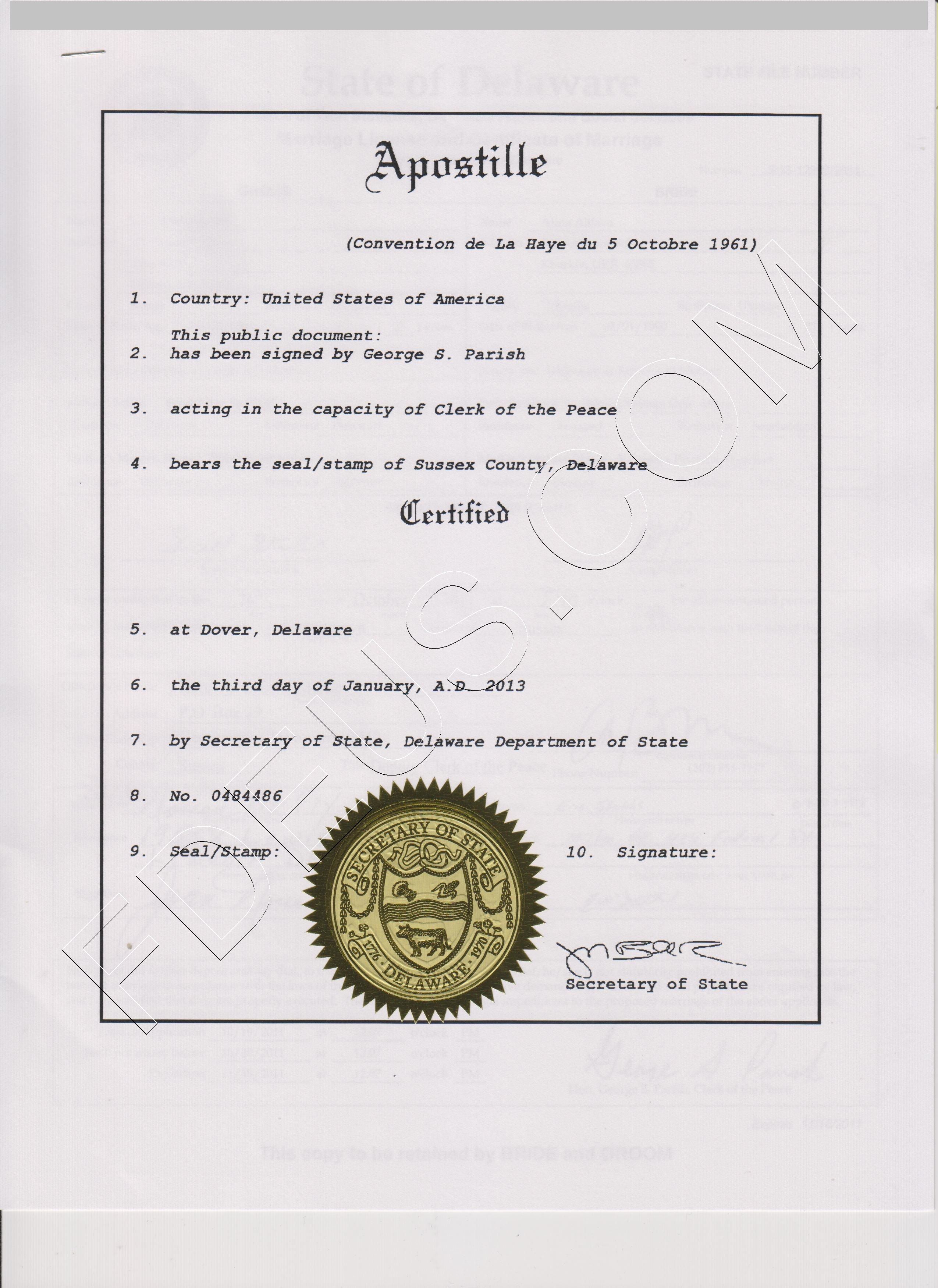 Delaware Apostille Most Popular Documents Are Articles Of
