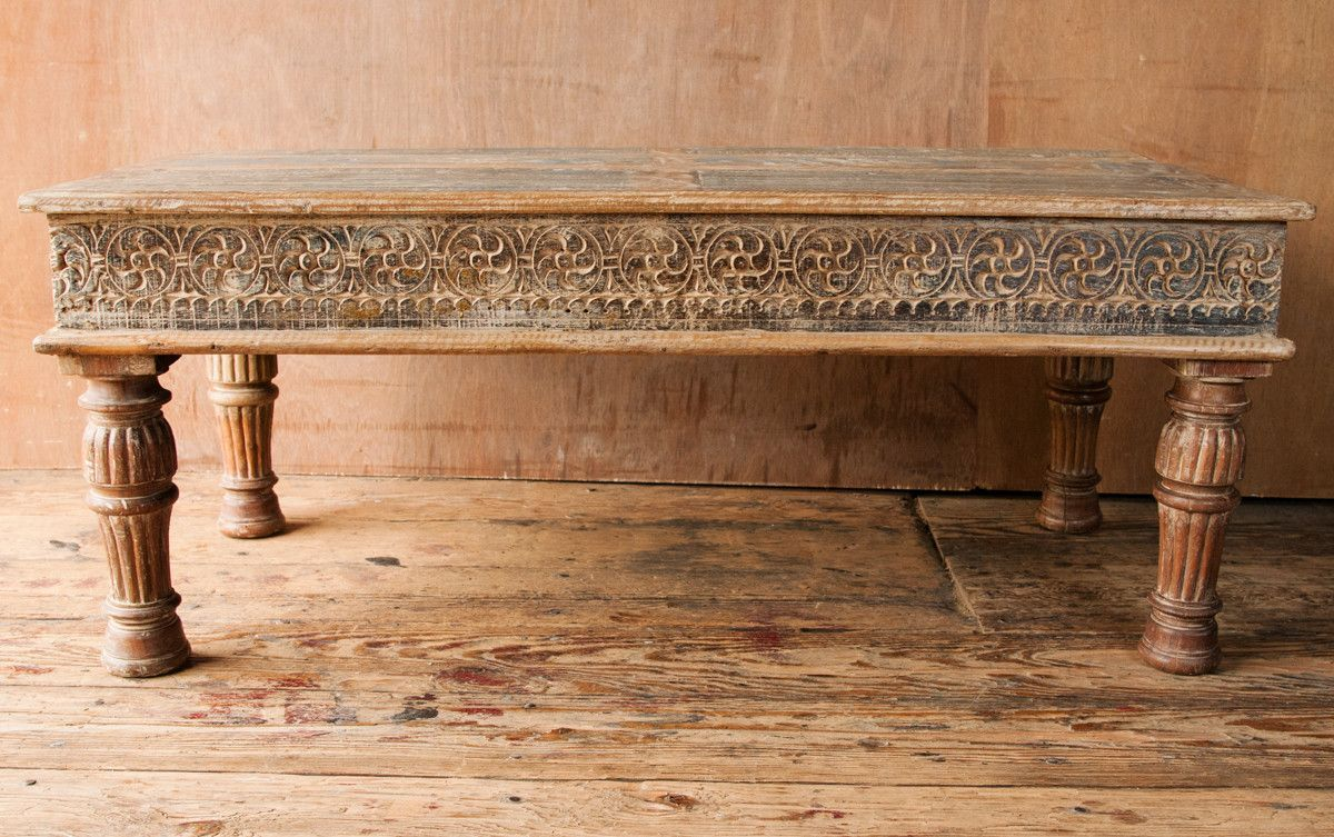 coffee table with carved indian panels indian dining on stunning wooden metal coffee table id=99542