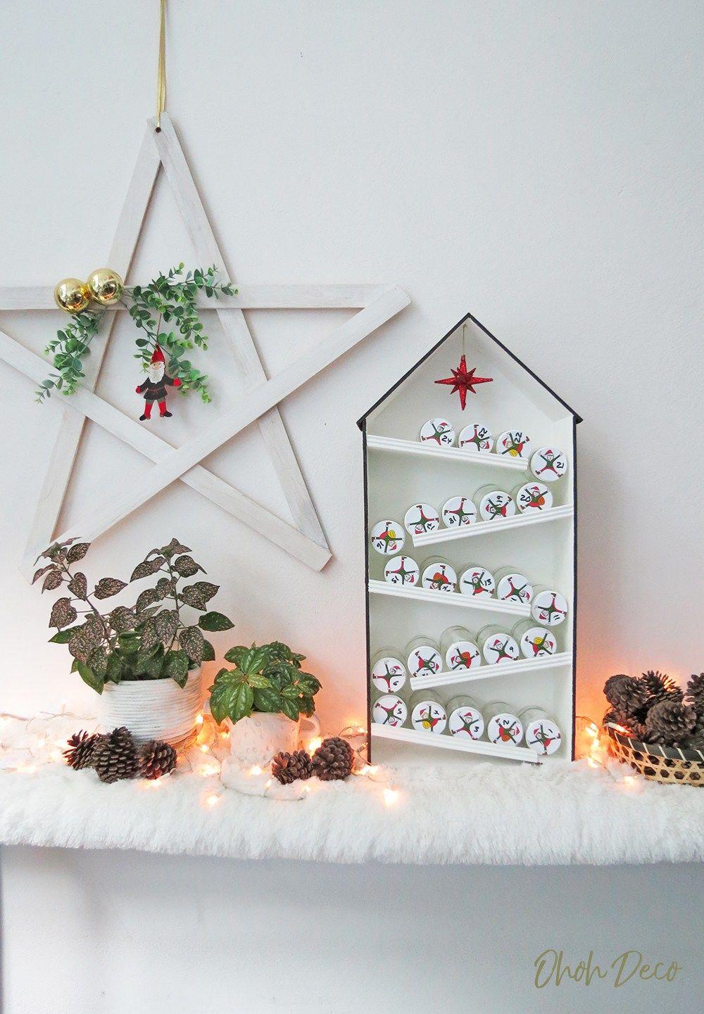 Diy Elves Advent Calendar Ohoh Deco Cool Advent Calendars Elf House Christmas Advent