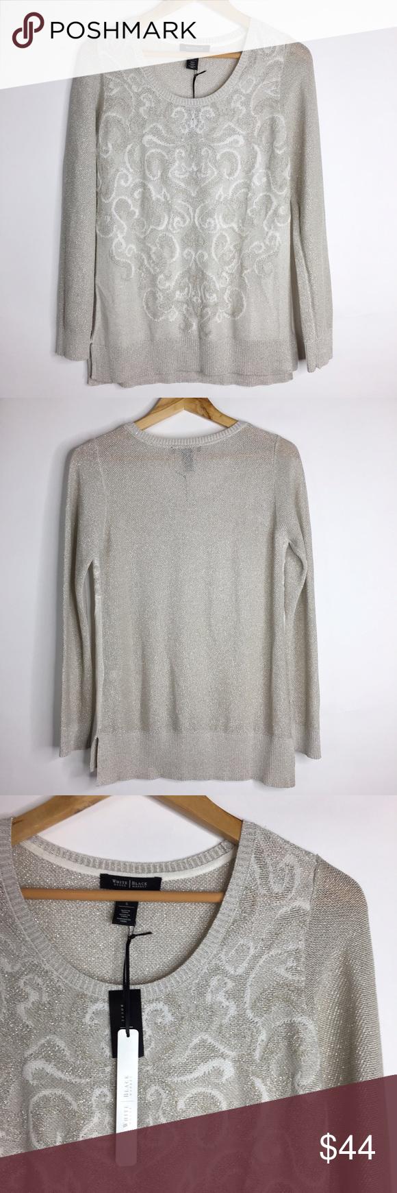 WHBM Sweater Light Tan/gray Size Small NWT