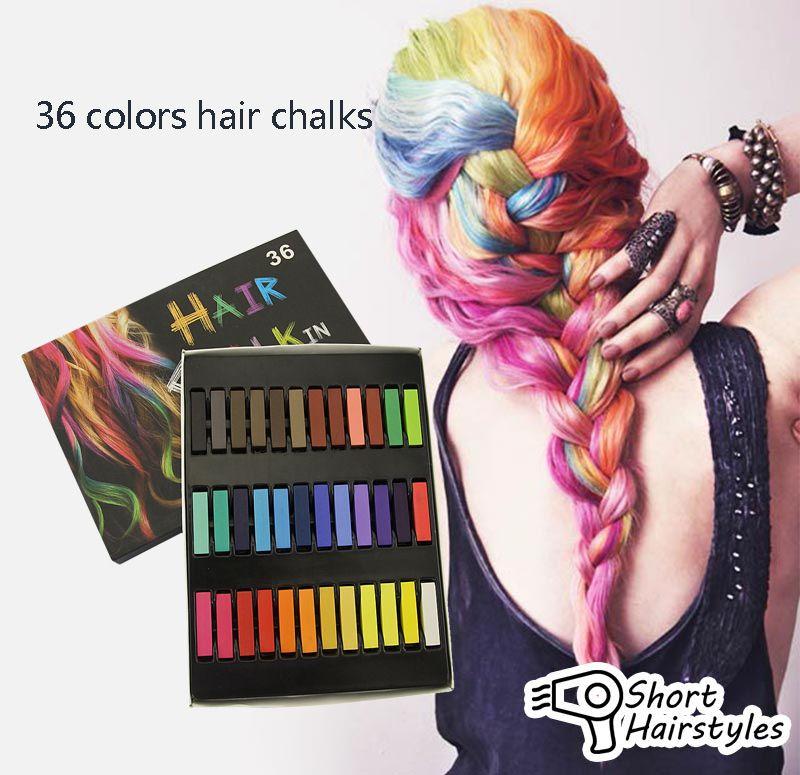 Beauty 36 Pcs Convenient Temporary Super Hair Dye Colorful Chalk